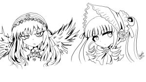 Rozen Maiden Lineart  by Andgofortheroll-123