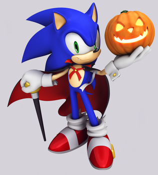 Halloween Sonic - 2015 by Elesis-Knight