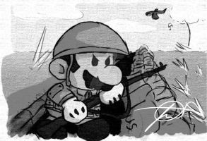 World War Mario by unforgivenarts