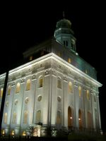 Nauvoo Temple at Night by SPAMkid