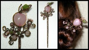Forbidden garden hairpin by JSjewelry