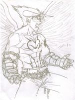 Rough Sketch: Devil Jin by TheALVINtaker