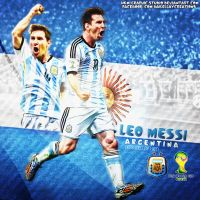 Leo Messi WC2014 by HkM-GraphicStudio