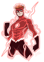 Flash (Wally West) Rebirth by LucianoVecchio