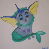 Vaporeon Mermaid by peanutbuttahhh