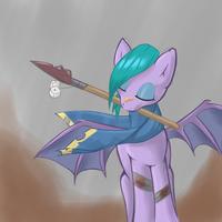 Fallout Equestria batpony by ThatDarnPony