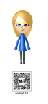 Android 18 Mii QR Code by Knuxamyloverfan