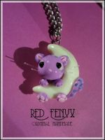 Cheshire Cat Necklace by RedFenyx