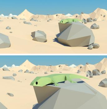 Gecko [Low Poly] by weilo82