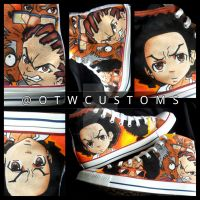 The Boondocks Custom Converse by VeryBadThing