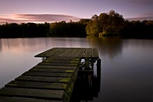 Long Exposure stage on lake by Bull04