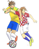 Brazil vs Croatia by Ami-Cat