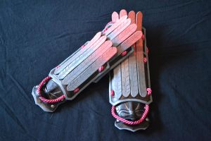 Natsu's gauntlets from Soul Calibur V by PinkJusticeCosplay