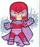 Chibi-Magneto. by hedbonstudios