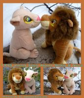 1995 Japan Sega Adult Simba And Nala by DoloAndElectrik