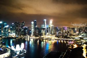 Singapore Night by kaffeinaddict