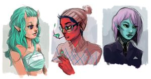 Demon Hipsters by shark-bomb