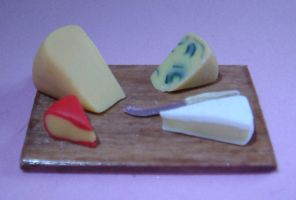 Miniature Cheese Board by Carlsbergensis