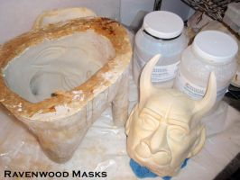 The Beast mask mold and cast by Alyssa-Ravenwood