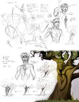 Dryad ideasketches by Skarita