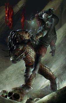 Predator vs General Ursus from Planet of the Apes by BennyKusnoto