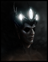 In the arms of Darkness. Morgoth. by Basket-of-Potatoes