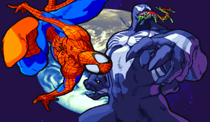 Spiderman and Venom Capcom by camdencc