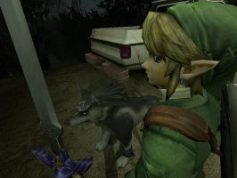 Link And Wolf Link by XxIchigoSamaxX
