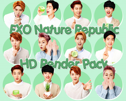 140604 EXO NATURE REPUBLIC HD RENDER PACK~ by GiosylZhang