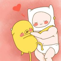 Baby Finn and Jake by nadais1