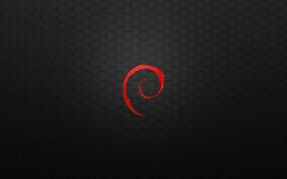 Debian Red Metal Hex by monkeymagico