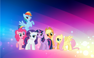 mane 6 wallpaper by nintenman1