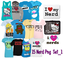 13 Nerd's Png  Set_2 by JEricaM