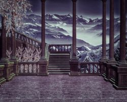 Staircase Premade Background 2 by VIRGOLINEDANCER1