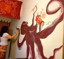 Octopus Mural 1 by Little-Solace