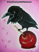 candy apple crow by Posiez