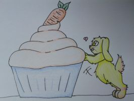 Carrot Cupcake by MidnightArtCat
