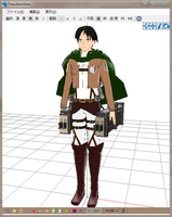 MMD Newcomer Lance Corporal Levi/Rivaille by Esdras18