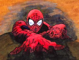 painted spidey by IslandElven