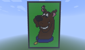 Minecraft Pixel Art- Scooby-Doo by MrEincorporatedd