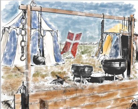Ink and watercolor by dyrholm
