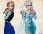 Anna and Elsa by MartAiConan