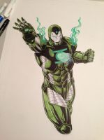 Iron Man or Green Lantern by Lionzstorm