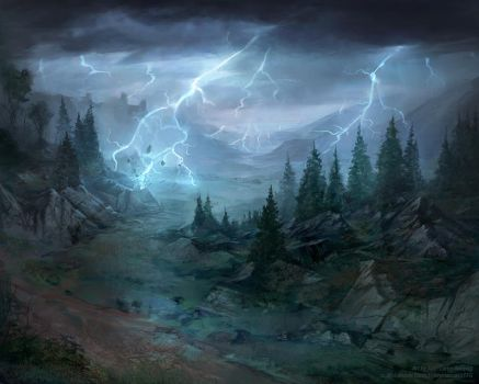 Weather-torn Valley - Lord of the Rings TCG by jcbarquet