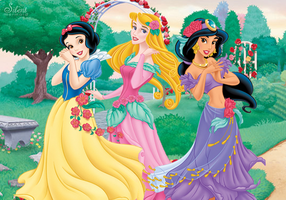 Disney Princesses - Spring Time! by SilentMermaid21