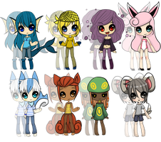 Pokemon Gijinka Adopts -Closed- by Miss-Adoptables