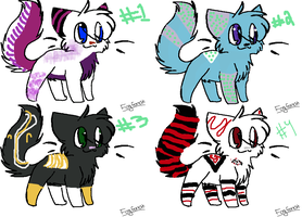 Adoptables---batch one--- five points by Wings-of-Cinder