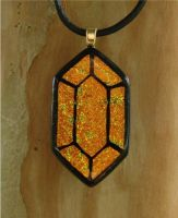 LoZ Gold Rupee Fused Glass by FusedElegance