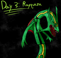 Day 3: Rayquaza by ArceusOpener
