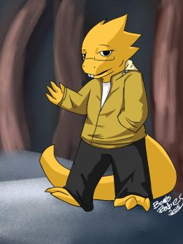 Underswitched!Alphys by BombsAreForBabies